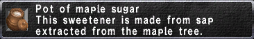Pot of maple sugar