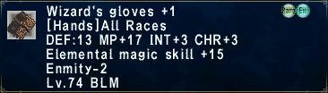 Wizard's Gloves Plus 1