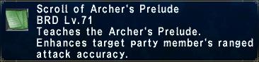 Archer's Prelude