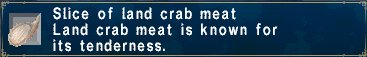 Land crab meat