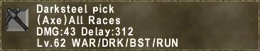 Darksteel pick