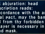 Wyrmal Abjuration: Head