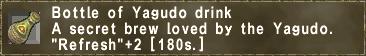 Bottle of Yagudo drink