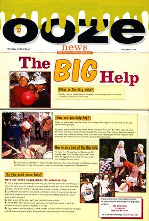 Nickelodeon Magazine October 1995 Ooze News The Big Help