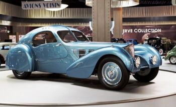 Bugatti Type 57-SC Atlantic Coupe, Chassis 57374, at the Mullin Automotive Museum, WM