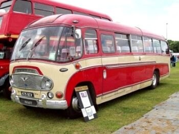 Bedford SB Duple Super Vega Coach (1962), Engine 7630cc, at the 2010 Enfield Pageant, RK