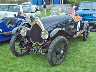 Bugatti T22 (1922) Engine 1496cc S4 SOHC, 4 valves per cylinder, at the 2013 VSCC Curborough Speed Trials RK