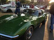 Green corvette stingray