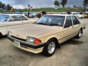 1982 Ford XE Falcon GL sedan. at the 2009 NSW All Ford Day, at Eastern Creek Raceway Sydney PM