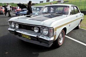 1969 Ford XW Falcon GT sedan. at the 2011 NSW All Ford Day, Eastern Creek Raceway, Sydney. PM