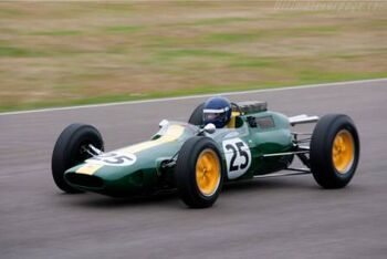 Lotus 25 Climax R4 - 2009 Goodwood Revival test