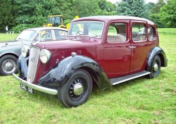 1938 Austin 18 Norfolk Saloon, at Shugborough Hall, Great Haywood. RK