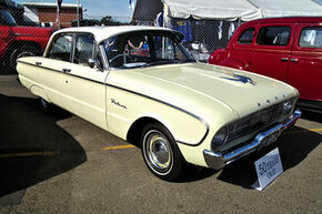 1961 Ford XK Falcon Deluxe sedan. at the 2011 NSW All Ford Day, at Eastern Creek Raceway, Sydney. PM