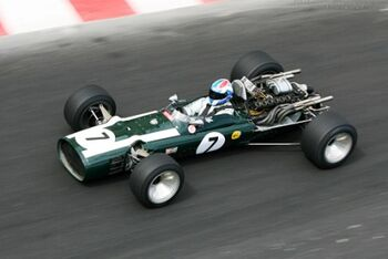 Cooper T86B BRM, Chassis F1-1-68, at the 2006 Monaco Historic Grand Prix, WM
