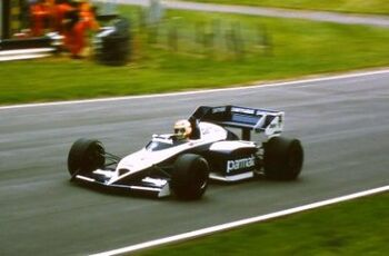 Brabham BT53 driven by Nelson Piquet at the 1984 British GP, Brands Hatch, ML