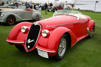 Alfa Romeo 8C, 2900B Lungo Touring Spider, Chassis 412014, at the 2005 Pebble Beach Concours d'Elegance, WM