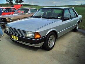 1981 Ford XD Falcon ESP sedan, at the 2009 NSW All Ford Day, Eastern Creek Raceway, Sydney. PM