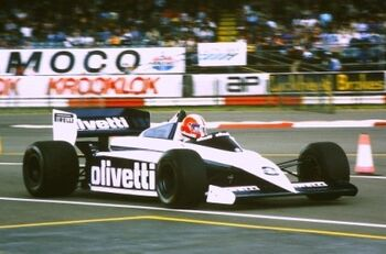 Brabham BT54, driven by Marc Surer at the 1985 British GP, Silverstone, ML