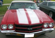 Red and white Chevelle SS