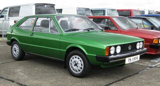 Volkswagen Scirocco Mk1 1974 one of the very early ones at North Weald in 2010
