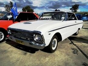 1964 Ford XM Falcon Deluxe hardtop. at the 2012 NSW All Ford Day, at the Motorsport Park, Sydney. PM