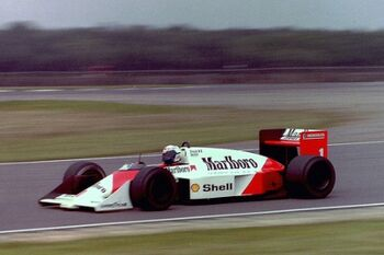 Mclaren MP4-3, Chassis MP44-4 testing in 1987 at Silverstone, ML