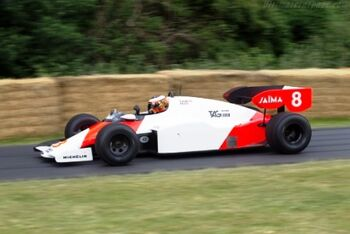 McLaren MP4-2 TAG Porsche, Chassis, MP42-1, at the 2014 Goodwood Festival of Speed, WM