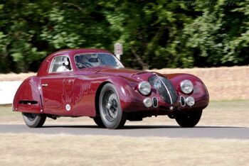 Alfa Romeo 8C 2900B Le Mans Speciale Berlinetta, Chassis 412033, at the 2010 Goodwood Festival of Speed, WM