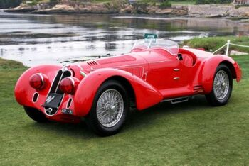 Alfa Romeo 8C 2900B Milli Migla Touring Spider, Chassis 412030, at the 2005 Pebble Beach Concours d'Elegance, WM
