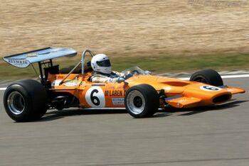 McLaren M14A Cosworth, Chassis M14A2, at the 2004 Old Timer Grand Prix WM