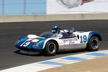 Lotus 19B - Ford, Chassis 966, at the 2007 Monterey Historic Automobile Races, WM
