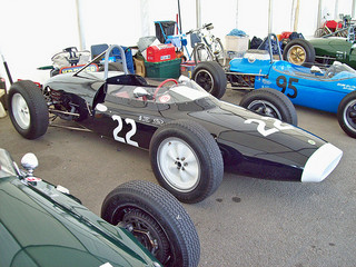 Lotus 18-21 (1961), Coventry Climax 1.5 litre engine, at the 2010 Silverstone Classic, RK