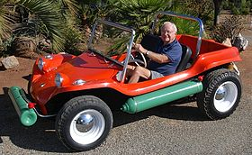 The first Meyers Manx, with Bruce Meyers, taken September 2007, by Roger Herzler