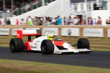 McLaren MP4-4 Honda, Chassis MP44-1, at the 2013 Goodwood Festival of Speed, WM