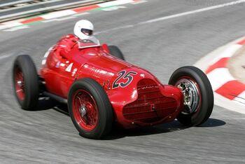 Alfa Romeo 12C-37, Chassis 51204, at the 2006 Monaco Historic Grand Prix, WM