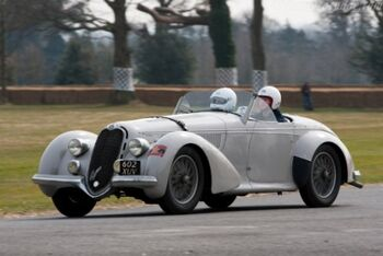 Alfa Romeo 8C 2900B, Corto Touring Spider, Chassis 412016, at the 2010 Goodwood Preview, WM