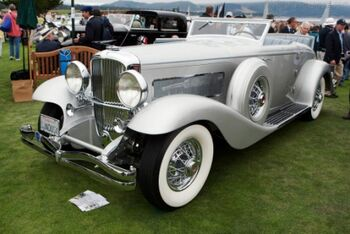 Duesenberg SJN Rollston Convertible Coupe, Chassis 2561 J-533, at the 2011 Pebble Beach Concours d'Elegance, WM