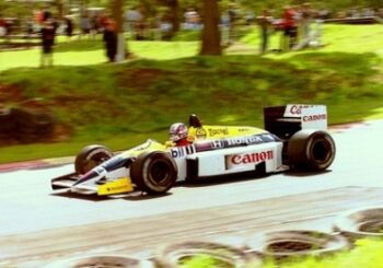 Nigel Mansell - Williams FW11 exits Druids Bend during tyre testing at Brands Hatch 1986 ML