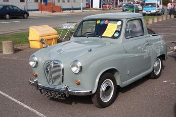 Austin A40 Pick-up - 654 XUH at SYTR 11 - IMG 8052