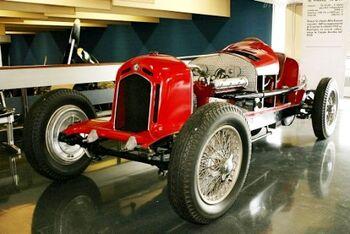 Alfa Romeo Tipo A Monoposto at the Alfa Romeo Museo Storico, WM