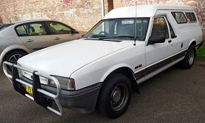 1993–1996 Ford XG Falcon GLi panel van, in Sutherland, New South Wales, Australia, by OSX, Wiki.