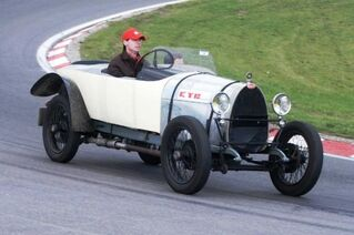Bugatti Type 23 Brescia Tourer, at the 2002 British Racing Festival on the Dutch Zandvoort track. WM