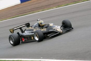 Lotus 91 - Cosworth, Chassis 9110, at the 2005 Silverstone Classic, WM