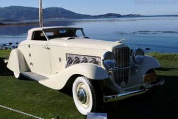 Duesenberg JN, Bohman & Schwartz Convertible Coupe, Chassis 2585 J-560, at the Pebble Beach Concours d'Elegance, WM