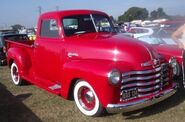 Red chevy pickup