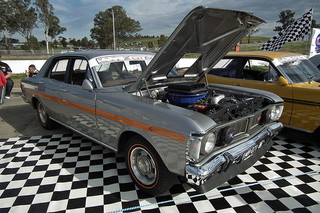 1971 Ford XY Falcon GT-HO Phase III sedan, at the 2011 NSW All Ford Day, at Eastern Creek Raceway. PM