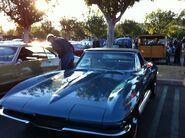 Blue 1963 corvette