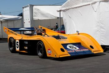 McLaren M20 Chevrolet, Chassis M20-2, at the 2009 Monterey Historic Automobile Races, WM