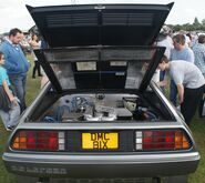 Delorean rear view