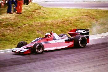 Brabham BT46 Parmalat Racing Team driven by John Watson at the 1978 British Grand Prix, Brands Hatch, ML